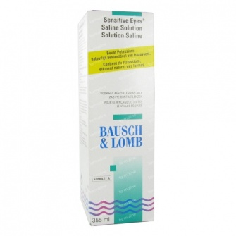 Sensitive Eyes Saline Solution (355ml)