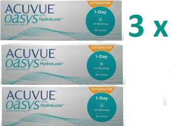 Acuvue oasys 1 day for astigmatism 90p